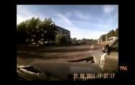 Нелепые аварии на дорогах России