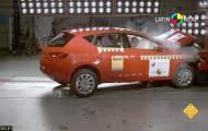 Достойный уровень техники безопасности  автомобиля Seat Leon